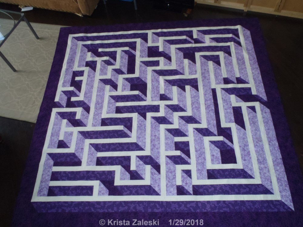 Krista Quilts January 40 Mesmerizing Labyrinth Walk Quilt Pattern Free