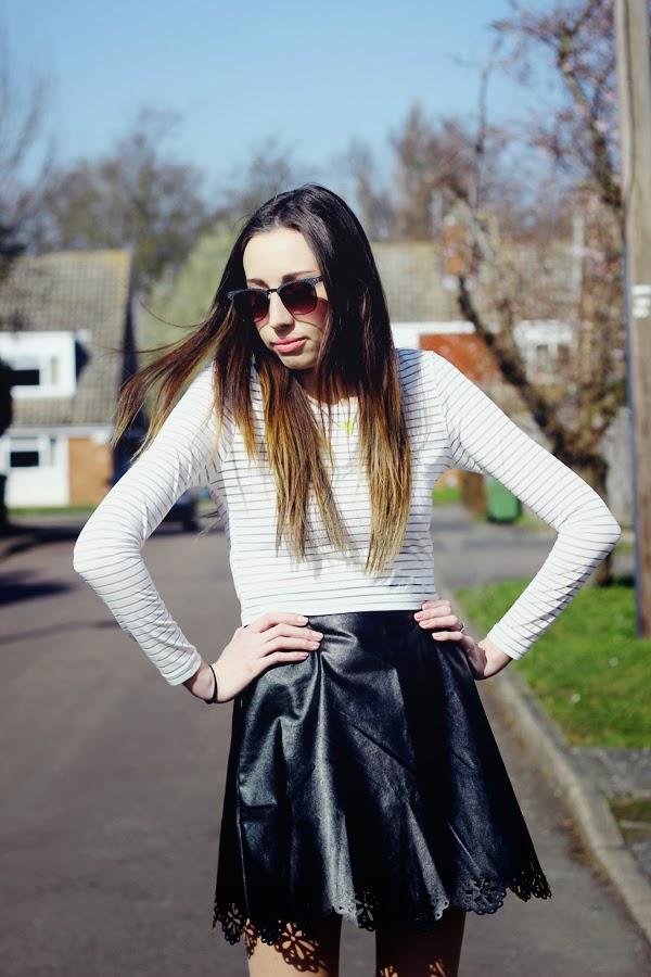 Faux leather skirt, skater skirt, crop top, primark, primark sunglasses, Primark summer collection, platform boots, top uk fashion bloggers, best uk fashion bloggers, cambridge fashion bloggers, sawston blogger, affordable fashion blog, british fashion bloggers, summer fashion, how to style a skater skirt,