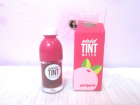 Review Peripera Vivid Tint Water - Cranberry Squeeze
