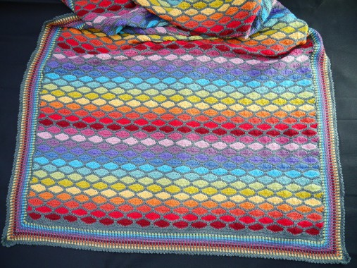 Rainbow Stained Glass Blanket - Free Pattern