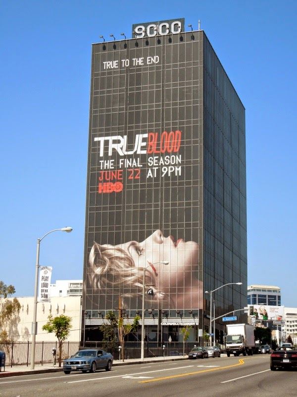 Giant True Blood season 7 billboard Sunset Strip
