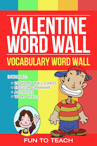 https://www.teacherspayteachers.com/Product/Valentine-Verbs-Vocabulary-Word-Wall-199668