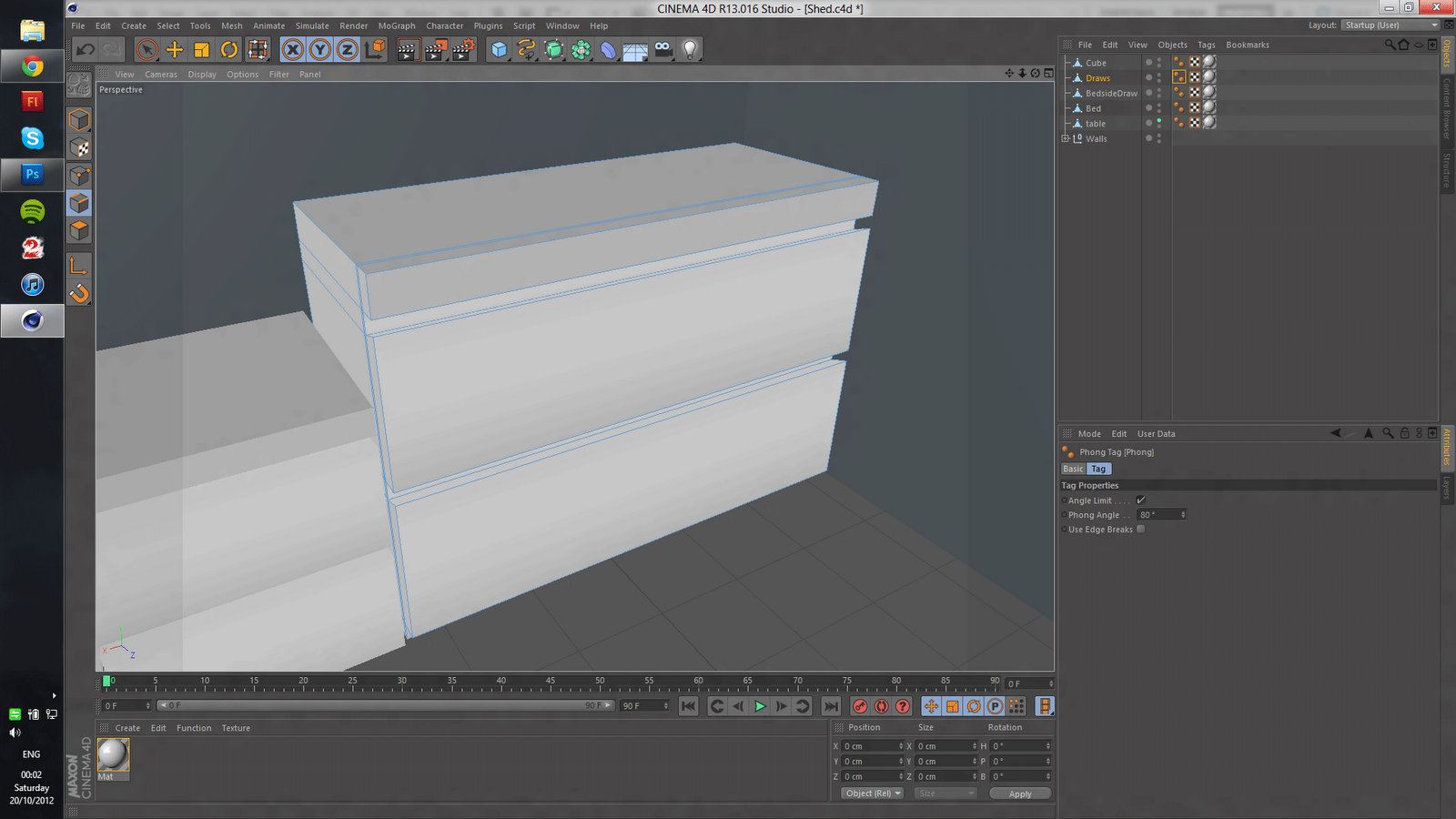 Creating my own bedroom in Cinema 4D | 3D modelling