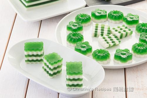 Pandan Cake Jelly Recipe: Pandan-Coconut Layered Agar Jelly