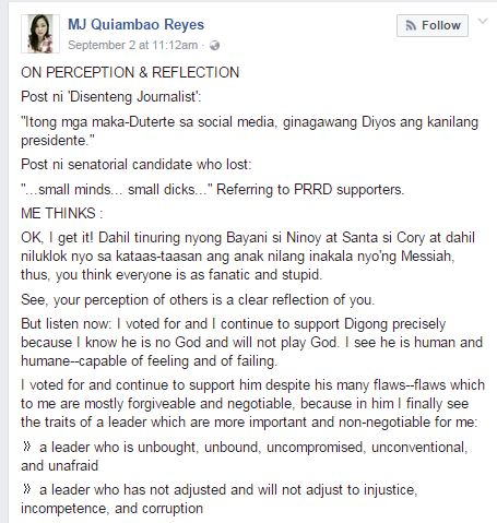 'Your Perception Of Him Is A Reflection Of You' : Netizen Fires Back Against Duterte Critics!