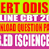 SCERT: B.Ed (Science) - CBT 2018 Batch Wise Question Papers and Answer Keys Download