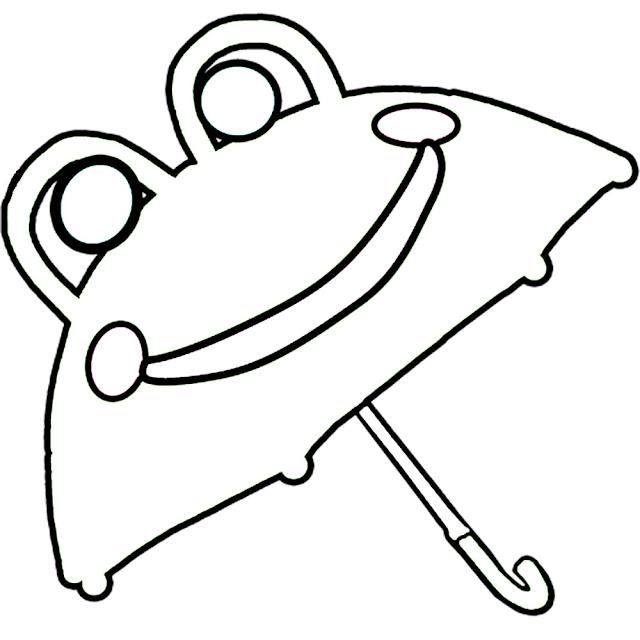 Gambar Mewarnai Payung - 11