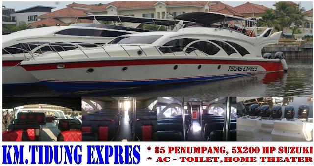 Harga sewa kapal speedboat tidung express