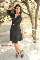 Telugu Actress Pavani Latest Pos in Black Short Dress at Smile Pictures Production No 1 Movie Opening  0243.JPG