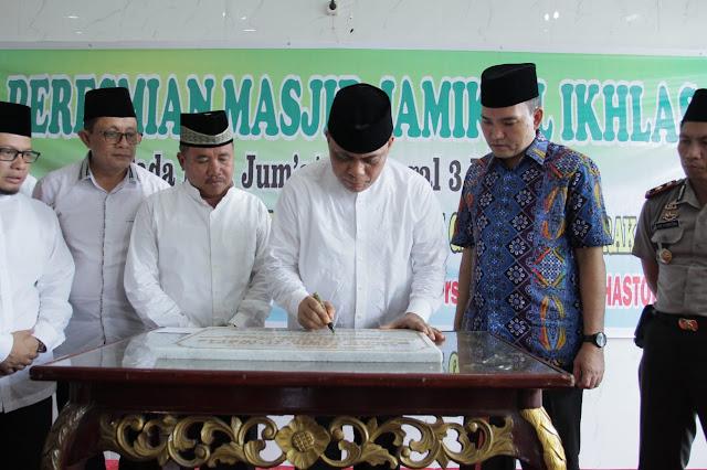 Wabup Muba Hadiri Peresmian Masjid Jamik Al-Ikhlas