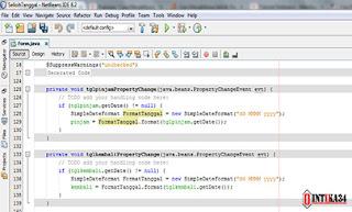 tutorial netbeans, selisih tanggal netbeans, jdcalendar