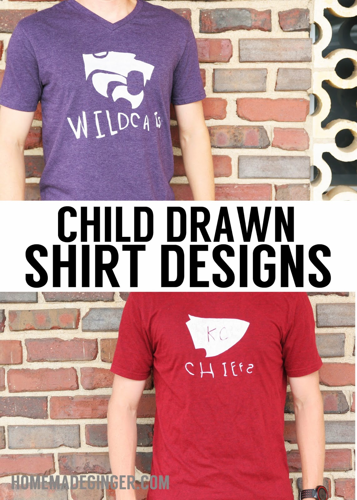 child-drawn shirt designs