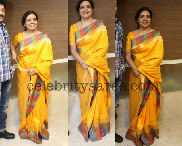 Jeevitha Yellow Light Weight Saree