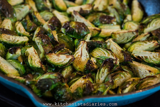 Skillet Roasted Sausage & Brussels Sprouts