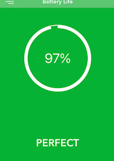Show the condition of my battery is at 97%