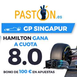 Paston Megacuota 8 gana Hamilton GP Singapur 2017 F1: 17 septiembre