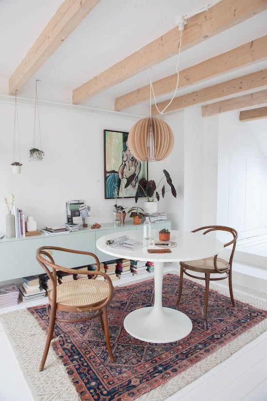 bentwood chairs, dining room