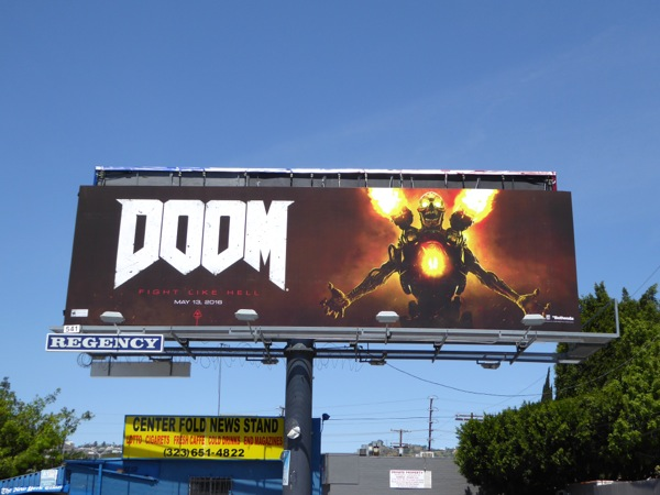 Doom video game 2016 billboard