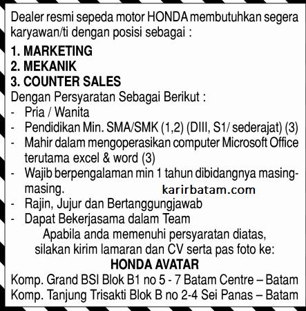 Lowongan Kerja Batam Centre 2017 2018 - Loker BUMN