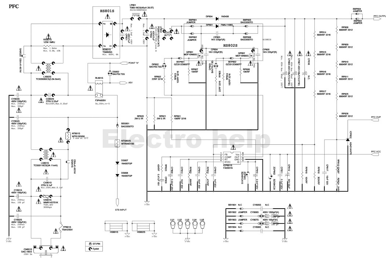 SAMSUNG BN44 00428B  LED LCD TV SMPS CIRCUIT DIAGRAM