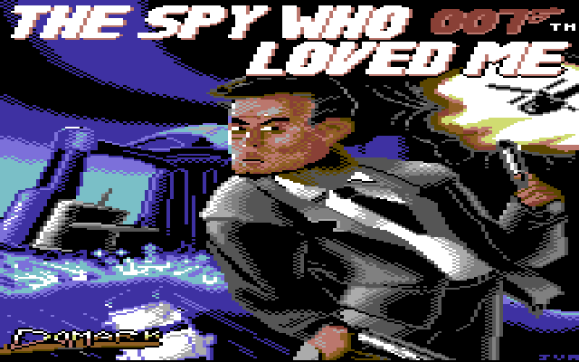 The Spy Who Loved Me Commodore 64 title screen