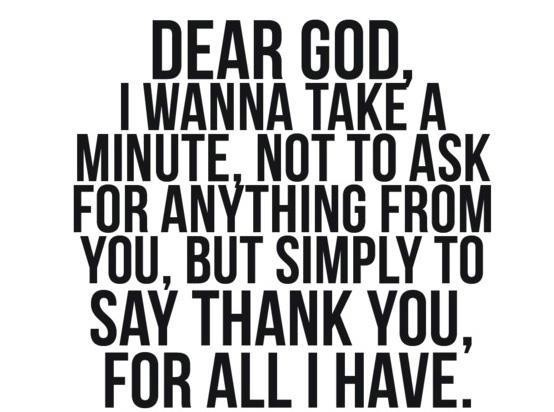Thank You, Lord! :