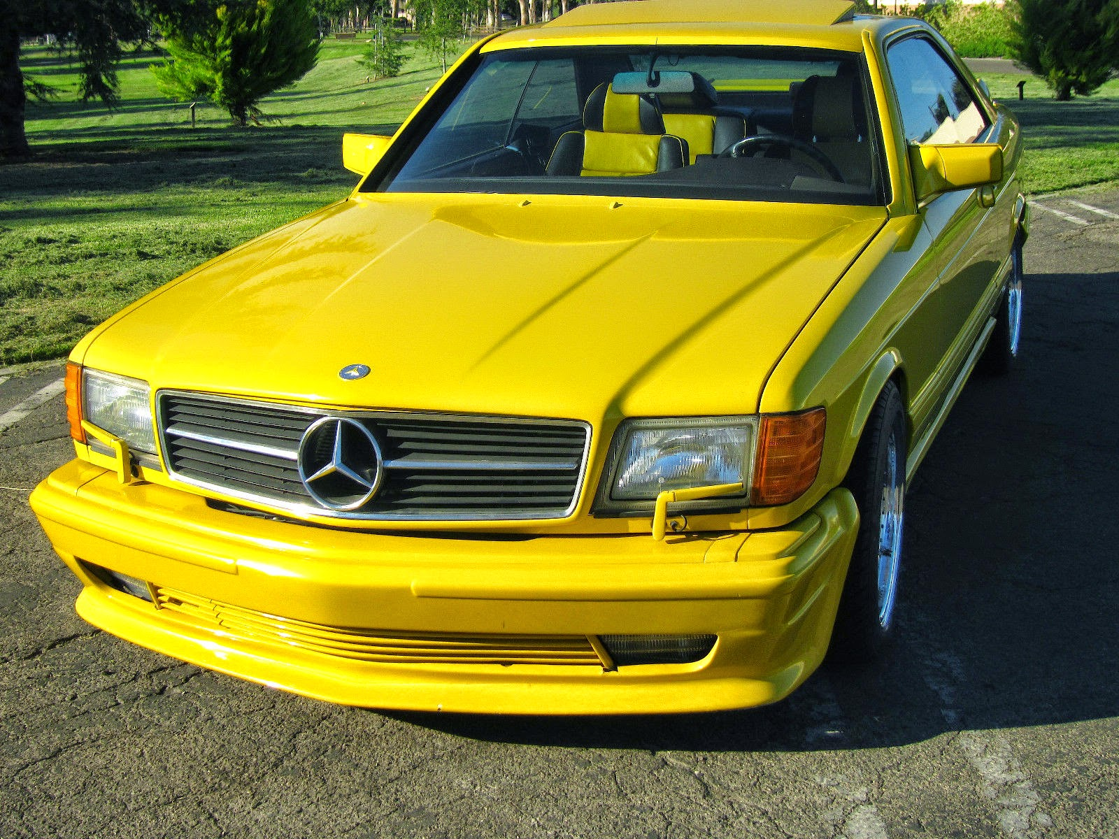 mercedes amg yellow