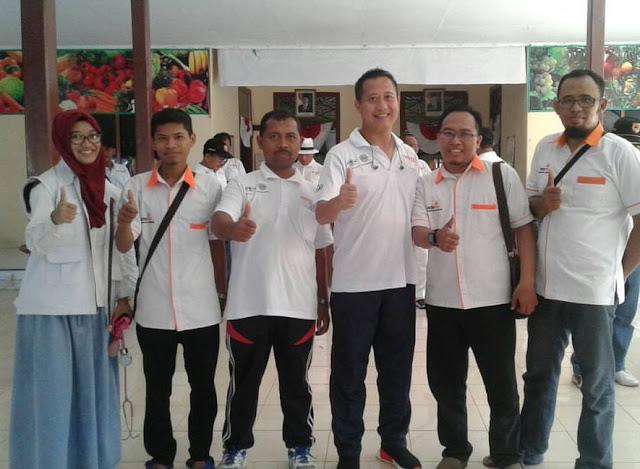 Team Lazismu berpose bersama KAPOLRES Jember, AKBP Kusworo Wibowo dan Ketua BP Lazismu, Ir. HM. Ali Maksum