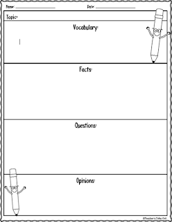 Free Non Fiction Graphic Organizer