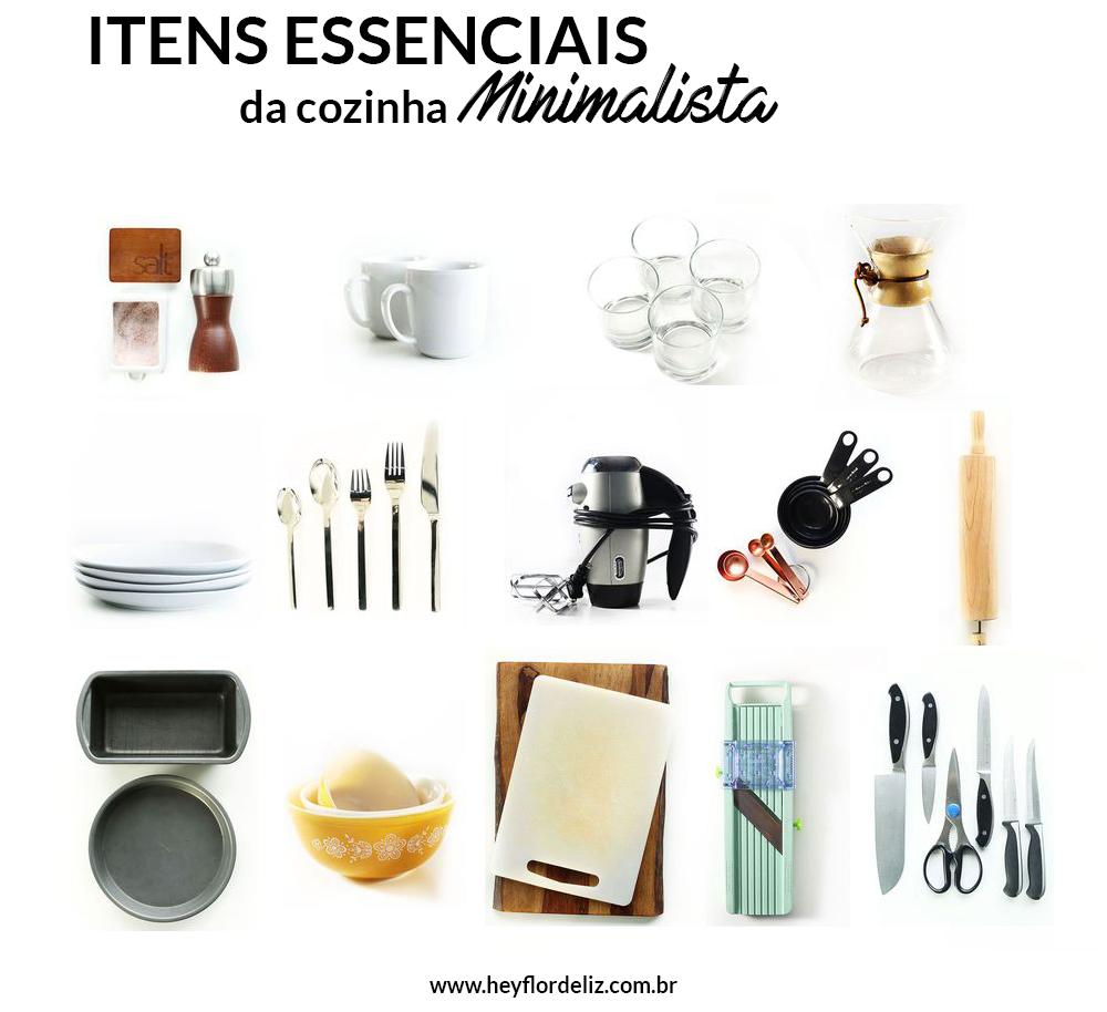 Lista Itens Essenciais Da Cozinha Minimalista Heyflordeliz  ~ Itens Essenciais Para Cozinha