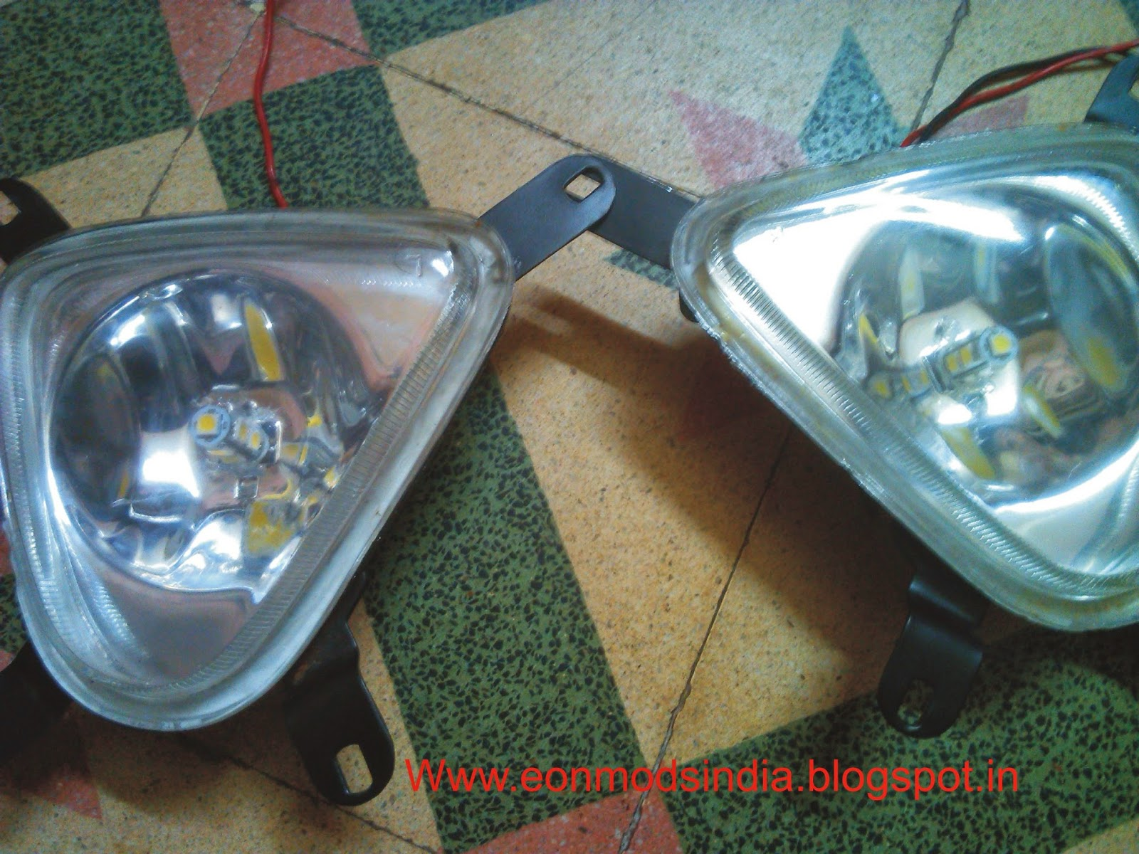 medium resolution of cutting of the slot for fog lamps