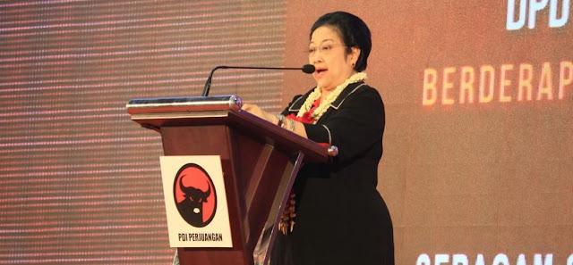 Ketua Umum Partai Demokrasi Indonesia Perjuangan (PDIP) Megawati Soekarnoputri melontarkan sejumlah sindiran. Namun, ia sama sekali tak menyebutkan nama