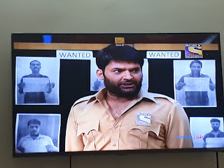 Rottenmangoman analyses the disappointing performances of The Kapil Sharma Show. In this image Kapil Sharma seen performing as a bearded cop/constable in the Kapil Sharma Show