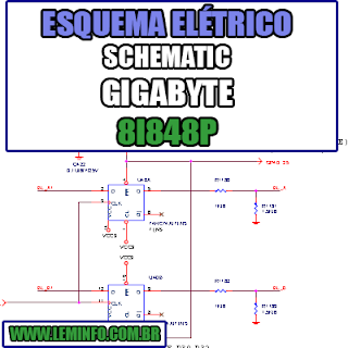 Esquema Elétrico Notebook Gigabyte 8I848P Laptop Manual de Serviço  Service Manual schematic Diagram Notebook Gigabyte 8I848P Laptop   Esquematico Notebook Placa Mãe Gigabyte 8I848P Laptop