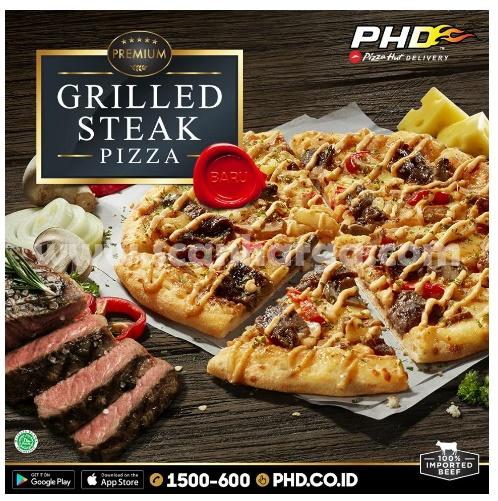 Grilled Steak Pizza, Menu Baru PHD dengan 100% Imported Beef