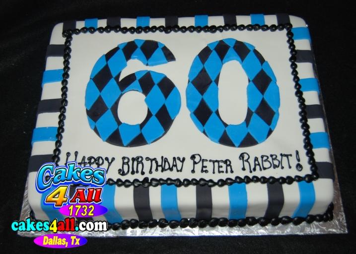 Cakes 4 All In Dallas Happy 60th Birthday Cake Dallas