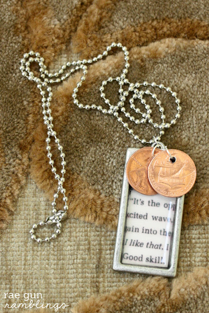 How to make penney and book page necklace (would be a great gift, years could be birthdays, anniversaries, etc.)
