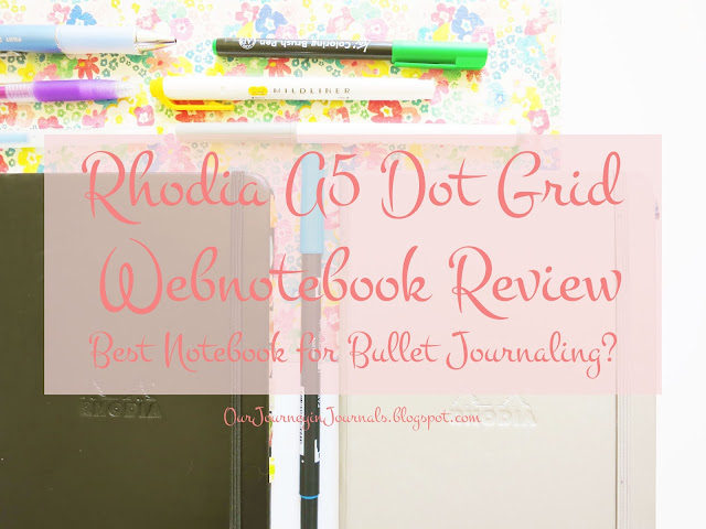 Rhodia A5 Dot Grid Webnotebook review (for the bullet journal system)