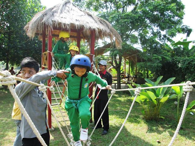 Outbond di Lafapark Waterpark Cikarang Karawang