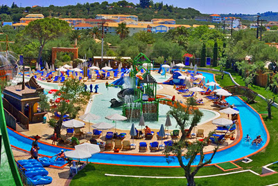 The water park in Tsilivi