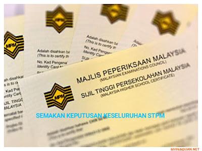 Semakan Keputusan STPM 2017 Online dan SMS