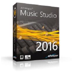 تحميل ASHAMPOO MUSIC STUDIO 2016 لتحرير الصوت وتعديل وتنظيم الأغاني مع سيريال التفعيل