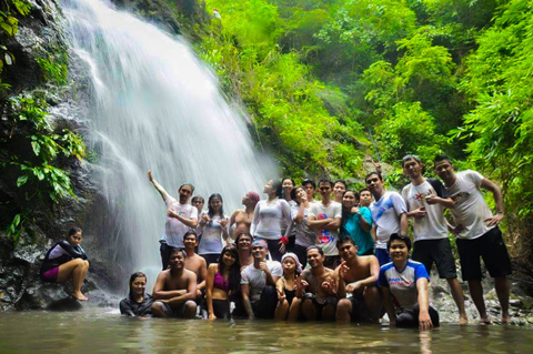 Souvenir photo of our group in front of Payaran Falls
