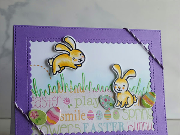Lawn Fawn: Easter Bunny Hop Card