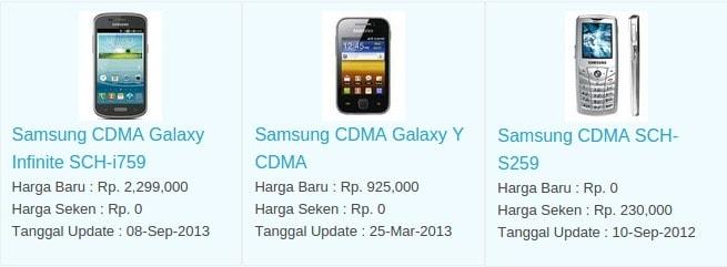 Harga Hp Terbaru Samsung CDMA Agustus 2016