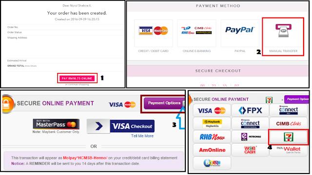 Ada CASH Semua Boleh Beli di Hermo Dengan MOLPay!, Kaedah Pembayaran Tanpa Menggunakan Kad Kredit/Debit