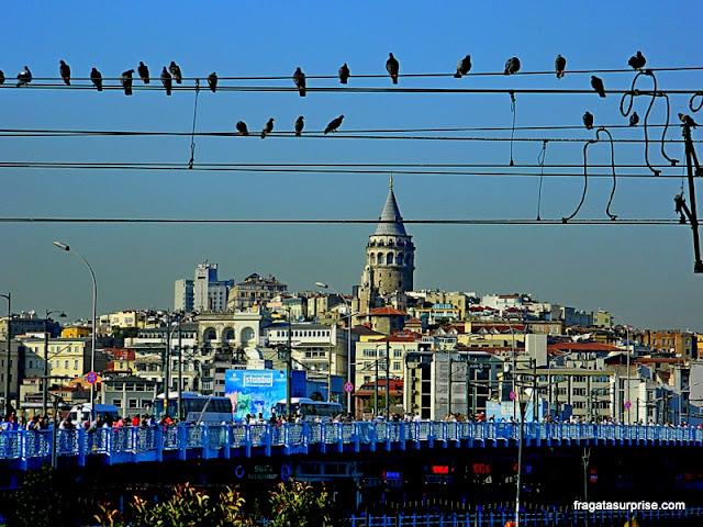 Ponte e Torre de Gálata, Istambul, Turquia