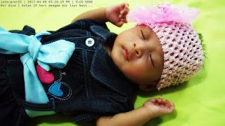 gambar bayi Nor Aina sedap tidur air liur meleleh