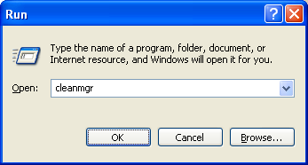 Disk cleanup manager run command