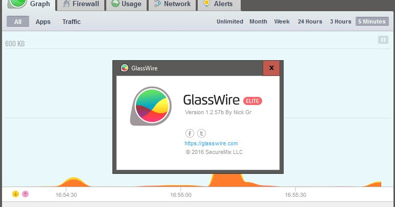GlassWire 1.2.57b Elite Version - Cracked By {Nick The Greek}